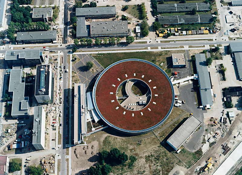 Aerial photograph BESSY II in Berlin Adlershof
