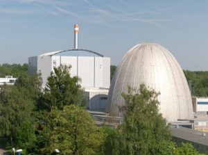 View of FRM II and Atomic Egg (Photo W. Schürmann TUM).